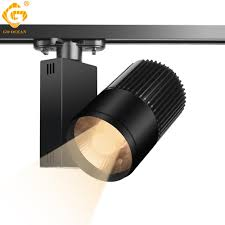 Led Spot Light Fixtures 2019 Track Light Led 40w Cob Rail Spot Lamp Shoe Clothes Store Shop Lighting Rails Aluminum Showroom Spotlight Light Fixture 2 3 4 Wire 3 Phase From