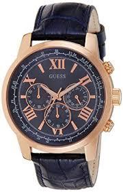 guess gvss5 men s quartz watch blue dial chronograph guess gvss5 men s quartz watch blue dial chronograph display and blue imitation leather