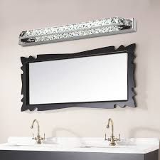 bathroom mirror lighting fixtures. aliexpresscom buy ecobrt good quality 10w crystal wall lamps 40cm long led bathroom mirror bar lights fixture indoor 110v 220v ac from reliable steel lighting fixtures b