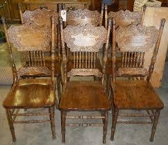 lovely idea pressed back chairs oak press 6