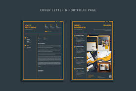 Cover Page For Portfolio Resume Cover Letter Portfolio Page On Behance