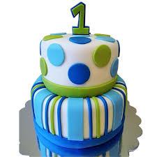 Cute Tiered Birthday Cake First Birthday Cakes