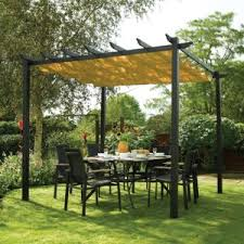 What is a pavilion Cedar Metal Pergola With Shade Canopy Outsidemodern What Is Pergola What Is Gazebo What Is Pavilion Outsidemodern