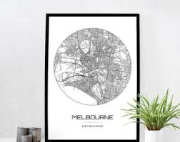 Small Picture Melbourne poster Etsy