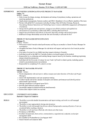 Finance Product Manager Resume Samples Velvet Jobs