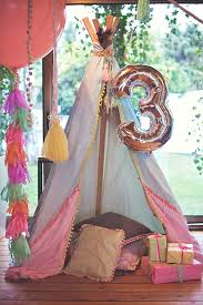 tent birthday decorations