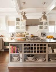 wine rack & backsplash Ruth Richards Interiors - kitchens - light taupe kitchen  island, kitchen island with open shelving, kitchen island shelves, ...