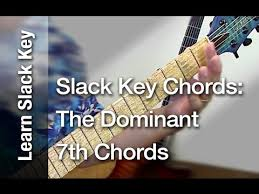 Hawaiian Slack Key Guitar Chord Chart Slack Key Chords The Dominant 7th Chords Taro Patch Or Open G Tuning Ki Hoalu