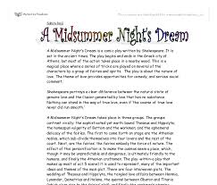 a midsummer night s dream by shakespeare summary of theme and  document image preview