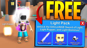 Roblox Mining Simulator Light Pack Mythical Light Pack Giveaway In Roblox Mining Simulator