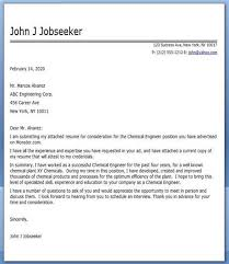 cover letter for engineering job chemical engineer cover letter