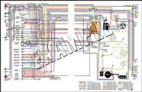 camaro parts camaro standard rs x  1967 camaro standard rs 8 1 2 x 11 laminated colored wiring diagram