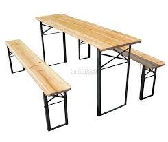 beer garden table. FoxHunter Outdoor Wood Wooden Vingtage Folding Beer Table Bench Set Trestle Party Picnic Pub Garden Furniture Steel Leg: Amazon.co.uk: \u0026 Outdoors L