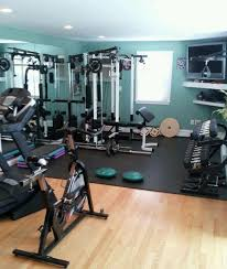 Decorating: Home Gym Design With Wood Floor - Home Fitnes
