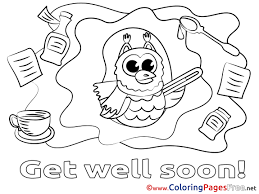 Inspiring Get Well Soon Coloring Pages Owl Sheets Inspirational Of
