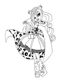 Beautiful Clawdeen Wolf Coloring Page Adult Coloring Pages