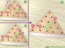 Wooden Triangle Peg Game Solution