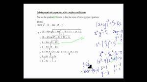 solving quadratic equations with complex coefficients