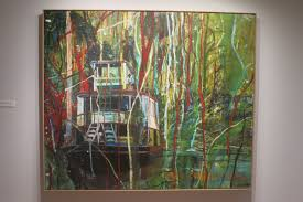 peter doig okahumkee some other people s blues 1990 oil on canvas