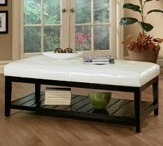 Padded Benches Living Room Coffee Tables Ideas White Ottoman Coffee Table Design Ideas Black