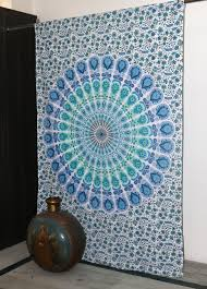 peacock manadala wall hanging art tapestry size 54 x 85 in inch approx indian wall decor hippie tapestries bohemian mandala tapestry wall hanging