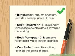 How To Write A Movie Review How To Write A Movie Review With Sample Reviews Wikihow