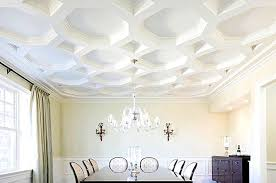 Gorgeous coffered ceiling with a unique shape(eastsidehomelink).