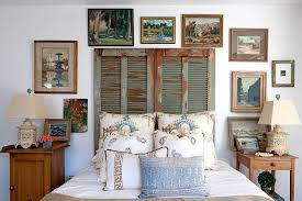 old shutters repurposed as unique headboard for the shabby chic bedroom design leslie l on shabby chic wall art bedroom with 50 delightfully stylish and soothing shabby chic bedrooms