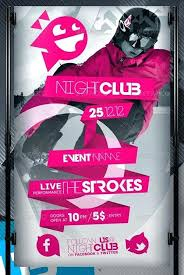 Free Nightclub Flyer Templates Download Simple Clean Illustrated