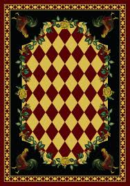 Rooster Area Rugs Kitchen American Dakota American Dakota Novelty High Country Rooster Red