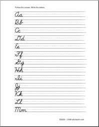alphabet practice paper cursive alphabet letters handwriting practice elementary