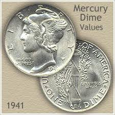 Roosevelt Dime Value Chart 1941 Dime Value Discover Your Mercury Head Dime Worth