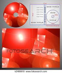 Abstract Design Template For Dvd Label And Box Cover Clipart