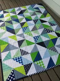 PDF Pattern for Geometric Modern Cot Crib Patchwork Quilt in ... & PDF Pattern for Geometric Modern Cot Crib Patchwork Quilt in triangles. Sew  your own handmade quilt Adamdwight.com