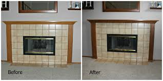 oak mantle update before and after