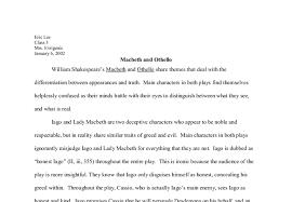 william shakespeare s macbeth and othello gcse english marked  document image preview