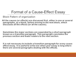 cause effect essay mass lecture  8