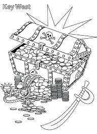 Treasure Chest Coloring Page Nature Pages
