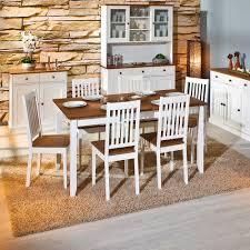 Esszimmertisch in Weiß Braun Kiefer Massivholz Jetzt bestellen ...