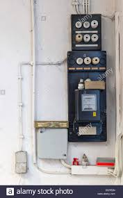old electrical fuse box stock photos & old electrical fuse box stock fuse box electric residential old fuse box with an electricity meter and electrical wiring on a wall in a basement