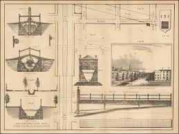architectural drawings of bridges. [Canal Street And Architectural Drawings For Locks, Bridges, Etc.]  Perspective View Architectural Drawings Of Bridges T