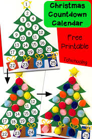 Calendar Countdown Days Christmas Countdown Printable Advent Calendar Totschooling