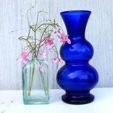 blue glass vase vintage cobalt blue glass vase inches blue glass vases bulk