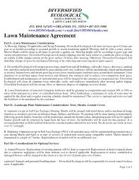 Lawn Service Contract Template Template Maintenance Contracts Template 22