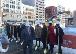 Deadline Detroit | Gilbert Breaks Ground for 'City Within a City;' Chants  Decry 'Corporate Welfare'