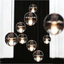 uk stock contemporary simple electroplated craftsmanship transpa crystal ball pendant light energy saving warm