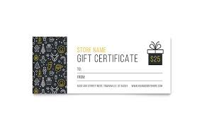 Gift Certificate Template With Logo Christmas Wishes Gift Certificate Template Design