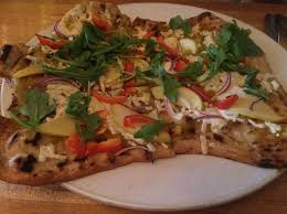 seasonal acorn squash and apple pizza at garden grille cafe in pawtucket