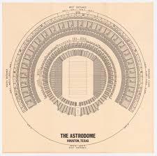 Astrodome Stadium Seating Chart Houston Texas
