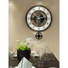 pendulum wall clock oversized black 20
